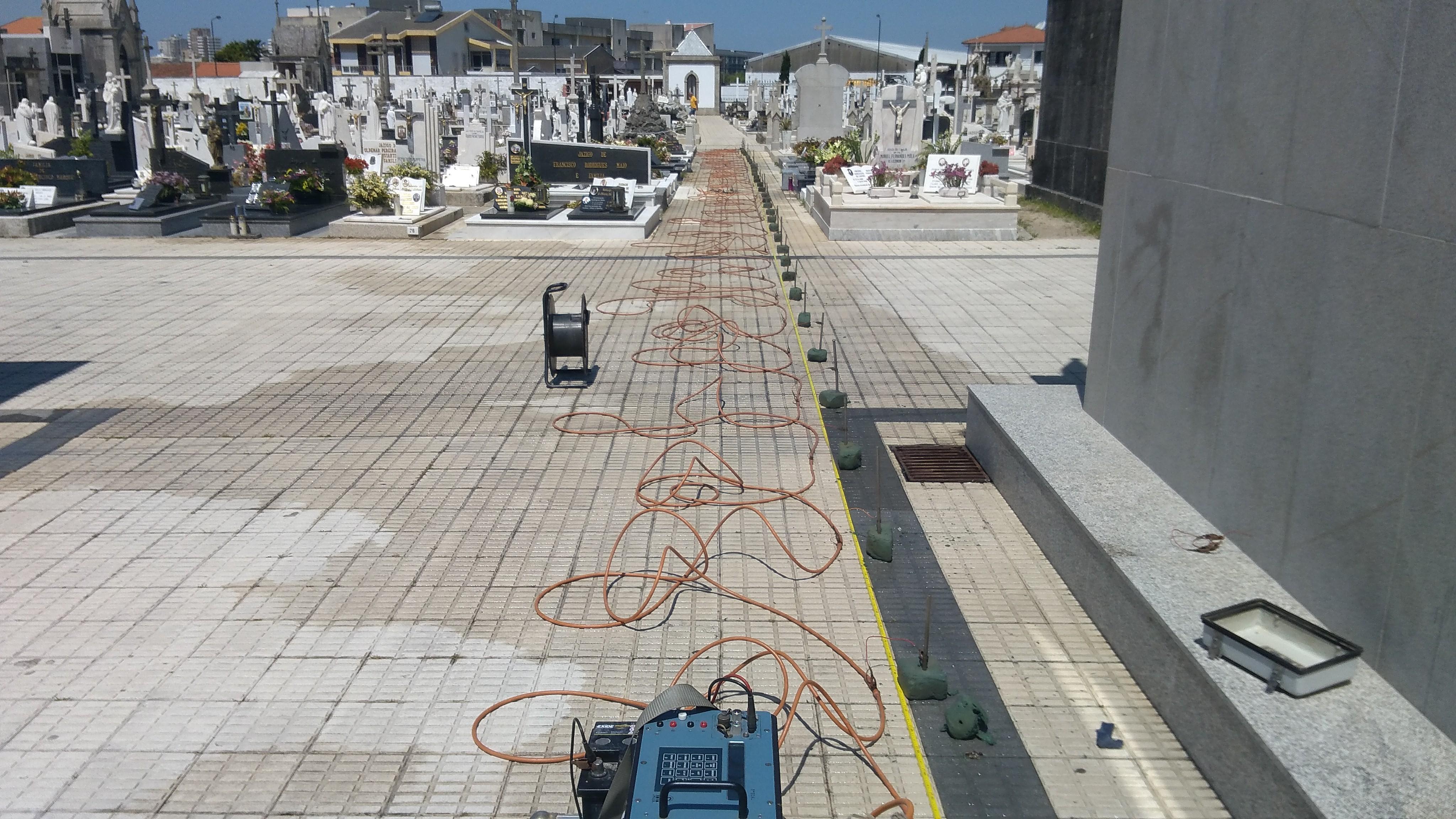 Resistividade eléctrica em cemitério